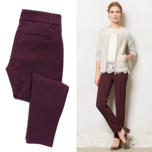 Anthro Cartonnier Pintucked Ponte Trousers 13-0526